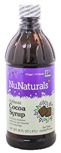NuNaturals NuStevia Cocoa Syrup Rich Chocolate Syrup Taste In a Zero Calorie Sweetener 16 Fluid Ounce (Vanilla Extract Bottles 8 Oz compare prices)