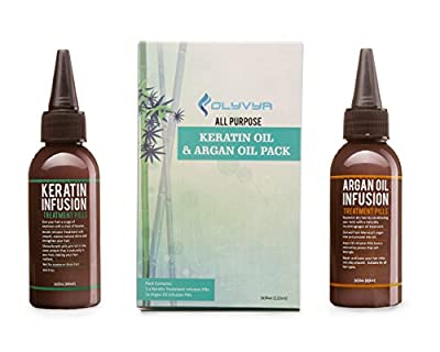 Olyvya Keratin Infusion Treatment Pills For Olyvya Hair Straightening Iron- Styling & Protection Combination- Restores, Nourishes & Protects Hair- For Coarse & Damaged Hair-Argan oil Included