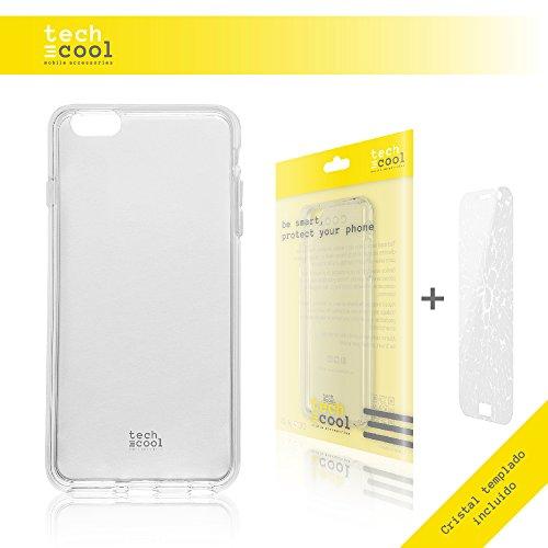 Iphone 6 Plus / 6S Plus Hülle, Funnytech® SchutzHülle premium Soft Flex TPU Silikon Transparent für Iphone 6 Plus / 6S Plus + Panzerglas Schutzfolie 9H l Case, Cover, Handy [Ultra Dünn 1,5mm] (Klar)