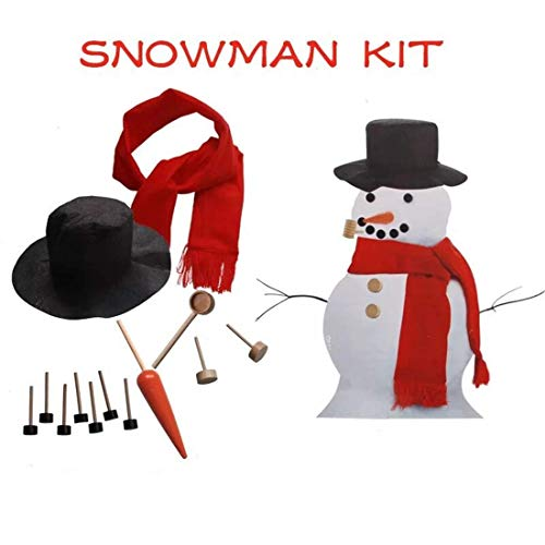 LCASSIEL Snowman Kit, Build Your Snowman, Snowman Decoration Kit, 13pieces Included -