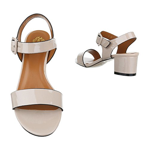 Ital-Design - Sandalias de vestir de Material Sintético para mujer Beige