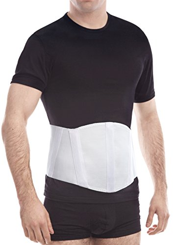 "TOROS-GROUP Ergonomic Umbilical Navel Hernia Belt / Abdominal Support Brace - Medium, Waist/Belly 39½"" - 43½"" White"