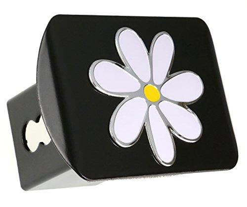LFPartS Plumeria Flower 3D Emblem Metal Trailer Hitch Cover