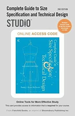 Complete Guide to Size Specification and Technical Design 2nd Edition: Studio Access Card