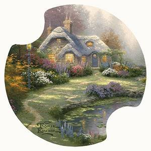 Everett's Cottage - Thomas Kinkade Coasters for Your Car -