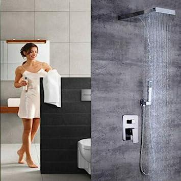 BTdahong – Sistema de ducha empotrado, termostato, ducha de lluvia ...