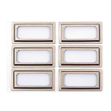 Martha Stewart Binder Bookplates, Vertical, 6-pack, Silver (51121) ()