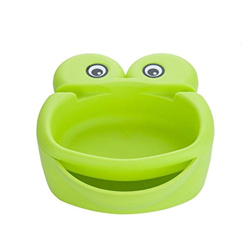 (Cartoon Frog Shape Melon Seeds Nut Bowl Table Candy Snacks Dry Fruit Holder Storage Box Plate Dish Tray With Mobile Phone Stents (green))