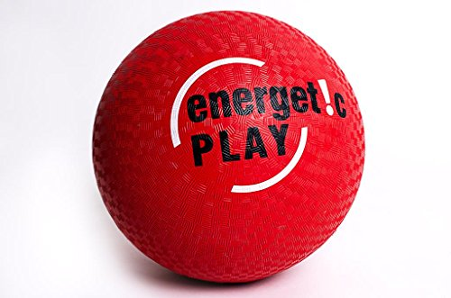 Playground Kickball - Traditional 10 Inch Red Rubber Ball by Energetic Play