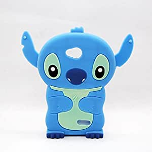 Blue 3D Stitch cute Cartoon Soft Silicone Case Cover Skin For LG Realm LS620 LG Pulse / LG Realm Phone