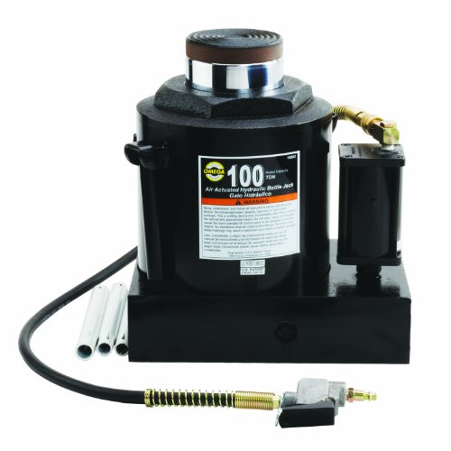 Omega-18992-Black-Hydraulic-Air-Actuated-Bottle-Jack-100-Ton-Capacity