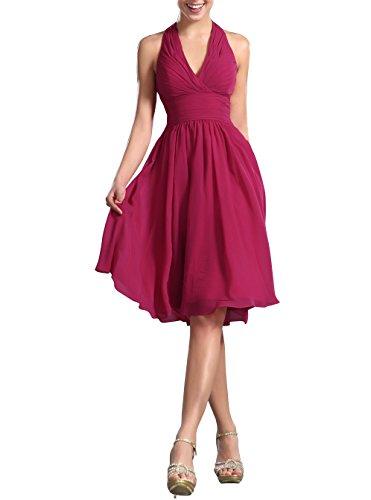 fuchsia halter dress - 3