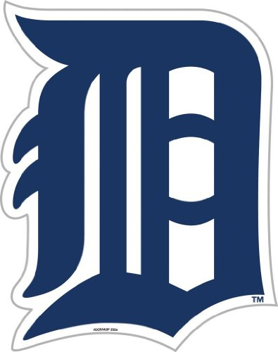 MLB Detroit Tigers 12-Inch Vinyl Logo Magnet