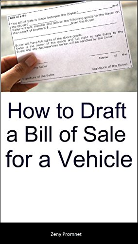 how to draft a bill of sale for a vehicle zeny promnet ebook