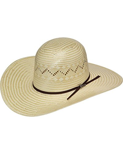 Twisters Men's Open Crown Poly Rope Straw Cowboy Hat Tan ...