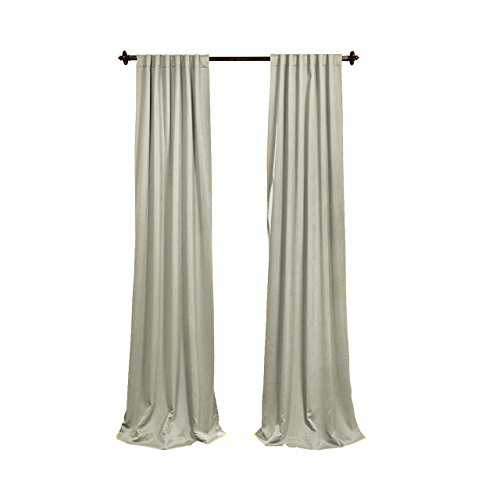 LA Linen Polyester Poplin Backdrop Drape (2 Pack), 96 x 58, Light Gray