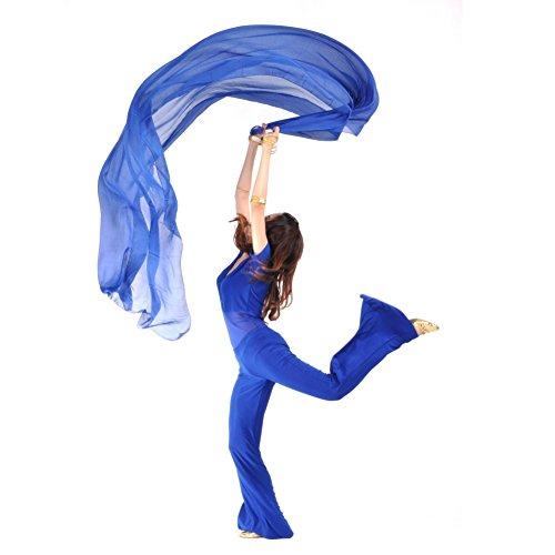 Jlong Womens Chiffon Shawl Veil Scarf Exotic Belly Dance Headscarf Headbands
