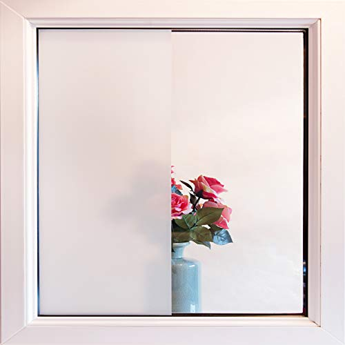 90cm Wide RED PRIVACY FROSTED GLASS STICKY BACK VINYL FILM WINDOW STATIC CLING