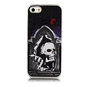 ZCL Smile Human Skeleton Grind Arenaceous Calls with Flash Back Case for iPhone 5/5S