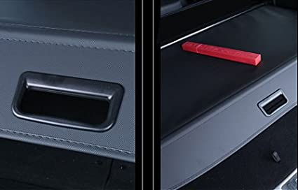caartonn Cargo Cover for 2013 2014 2015 2016 2017 2018 2019 Ford Escape Trunk Retractable Cargo Luggage Security Shade Cover Shield Black(with Small Flaps)