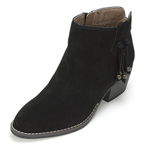 White Mountain Women's Havana Ankle Bootie, Black, 8.5 M US (Black And White Booties)