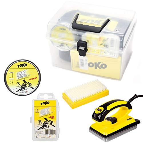 [해외]TOKO (토) 유세 용와 싱 세트 왁 스 2 종 및 디지털 다림 질 및 나일론 브러시 toko wax 【 C1 】 / TOKO (CO) technology selection Waxings Set Wax 2 & Digital Iron & Nylon Brush TOKO wax [C1]