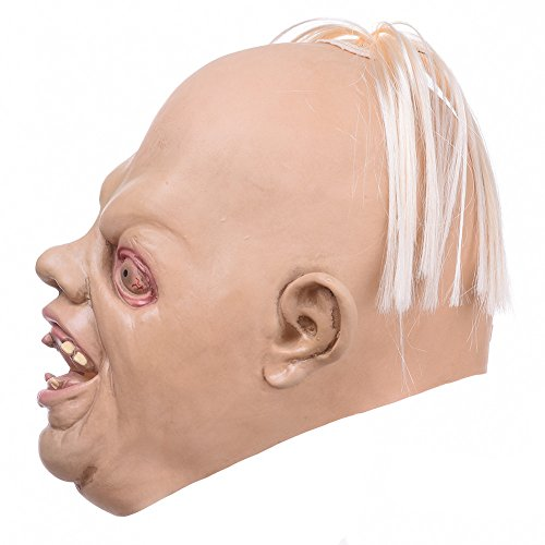 Halloween Novelty Latex Bloody Creepy Mask- Scary Ugly Head the Goonies Sloth Mask Emulsion Skin with Hair (Sloth From Goonies Halloween Costume)