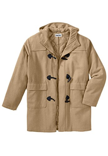 Kingsize Men's Big & Tall Toggle Parka Coat, Camel Tall-4Xl Fur Toggle Coat