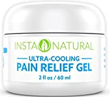 InstaNatural Pain Relief Cream with Menthol and Arnica – Cooling Gel Medication for Back, Knees, Elbows, Muscles, Arthritis & More – Powerful Anti Inflammatory Treatment for Lasting Relief – 2 OZ