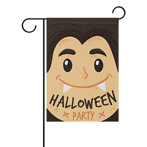 (VIMMUCIR Home Garden Decor Happy Halloween Vampire Garden Flag 28 x 40 Inch Vertical Double Sided Outdoor)