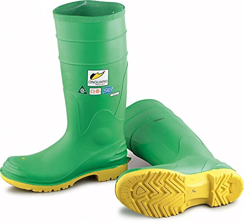 Bata Shoe 87012-15 Onguard Industries Size 15 Hazmax Green 16'' PVC Knee Boots With Ultragrip Sipe Outsole, Steel Toe And Removable Insole English, 15.34 fl. oz., Plastic, 16