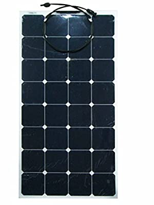 100W 18V 12V Sunpower Semi Flexible Thin Lightweight Solar Panel Charger with MC4 Connector for RV,Boat,Cabin,Tent,Yacht,Car,Off-Grid Applications