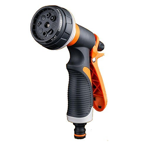 AFUNSO Garden Hose Nozzle Spray High Pressure 8 Adjustable Watering patterns Hand Rotating Sprayer for Watering Lawn and Garden, Cleaning, Car Wash and Showering Dogs & other Pets by AFUNSO