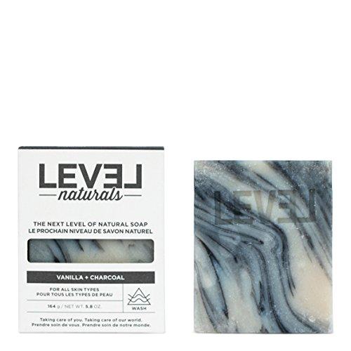Level Naturals - Cruelty-Free and All-Natural Bar Soap - 5.8 oz. (Vanilla + Charcoal) (Level Naturals Body)