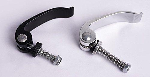 2 unidades bicicleta cierre rápido para tija de sillín M 6 x 40 mm Negro Plata, plata: Amazon.es: Deportes y aire libre