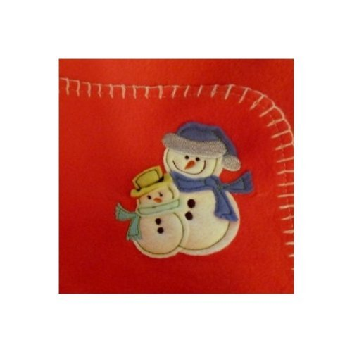 - Parents Choice Soft Red Fleece Snowman Baby Blanket