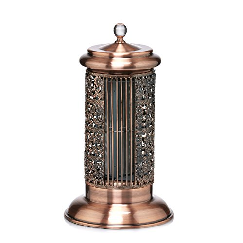 DecoBREEZE Tower Fan 2 Speed Tower Table Fan, 14 In, Antique Copper Deco Breeze Table
