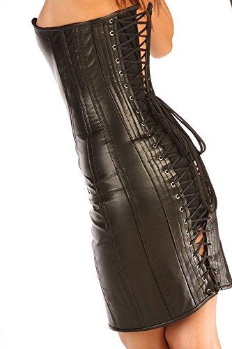 Classic Style Steel Boned Top Grain Leather Corset Dress CD1