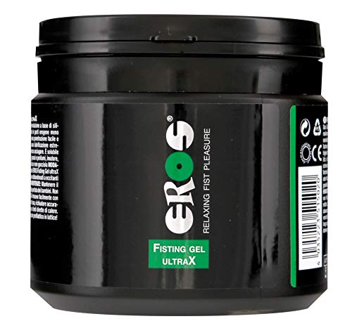EROS Personal Lubricant for Fisting and Anal Sex - Thick and Long Lasting Back-Door Relaxing Gel - Hybrid Silicone and Water Based Anal Lube for Men | Women |Gays - 500-ml (17-oz)