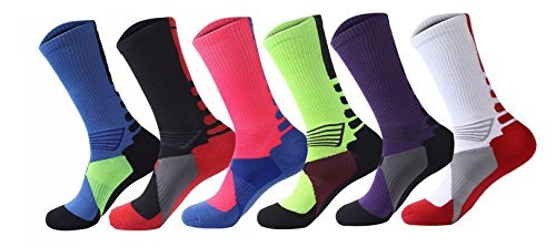 Street Ball Crew Compression Socks (Assorted 6-Pack)