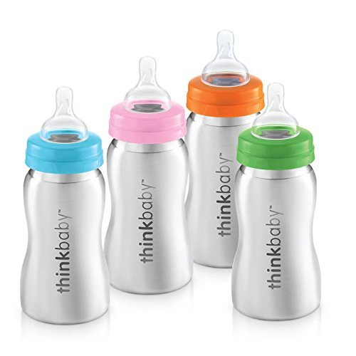 Thinkbaby - Botella de acero inoxidable para bebé, color plateado, 228,6 g: Amazon.es: Bebé