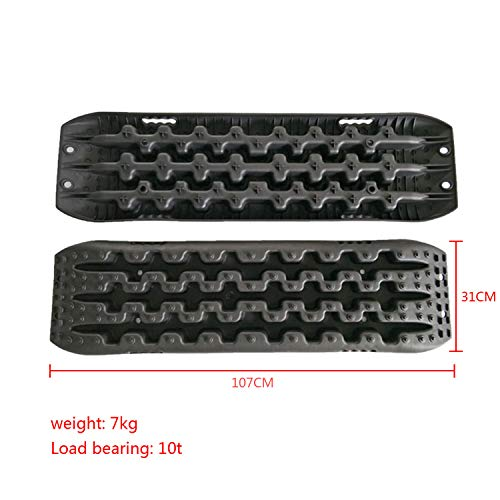 MAXFAVOR Large Size Traction Mat 2 Pack Black Tracks Tire Ladder 4WD Emergency Tires Traction Mats Track Trapped Recovery Boards Vehicle Extraction Tire by MAXFAVOR (Image #2)
