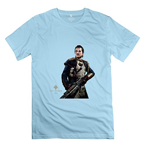 Price comparison product image The Order 1886 Hot Topic Short Sleeve SkyBlue T Shirt For Mens Size XL