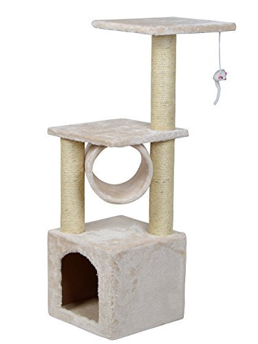 New 36'' Deluxe Cat Tree Condo Furniture Scratcher Scratching Post Pet House Play Toy