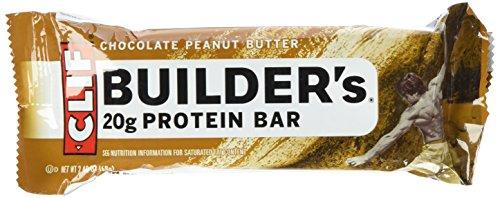 Cliff Bar Builder Bar, Chocolate Peanut Butter, 2.40-Ounce (Pack of 12)