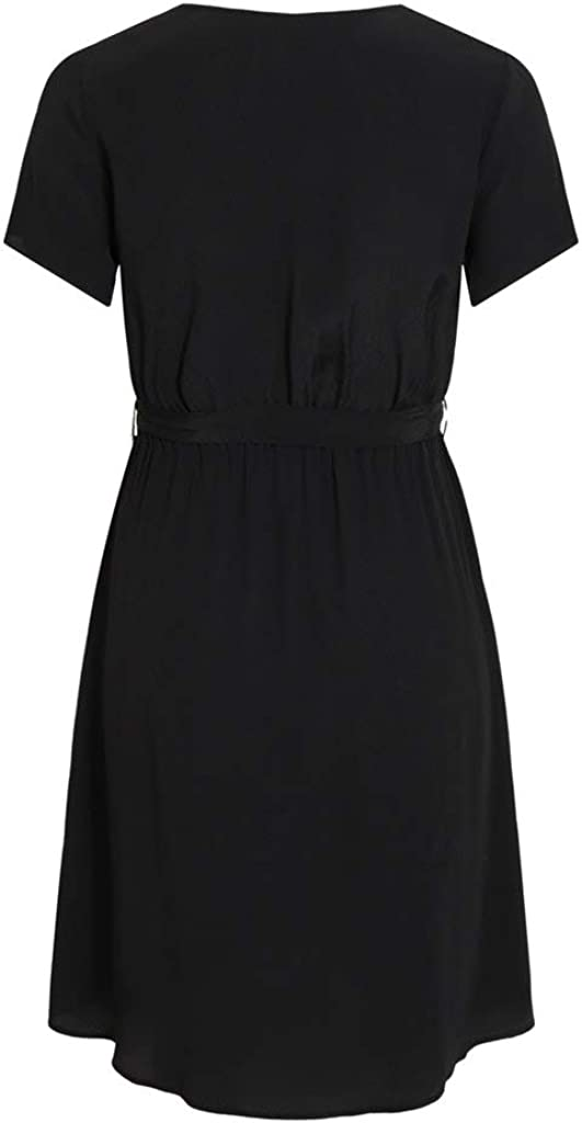 Vila NOS Damen Viprimera Wrap S//S Dress-noos Kleid