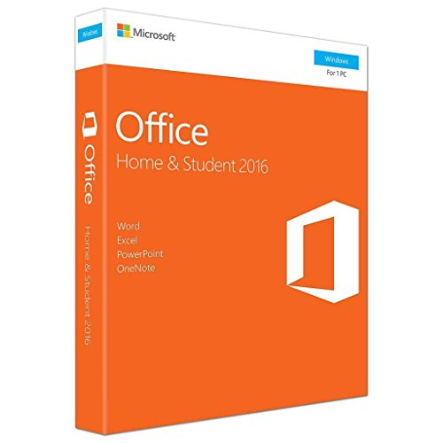 Software : Office 2016 Home and Student for PC