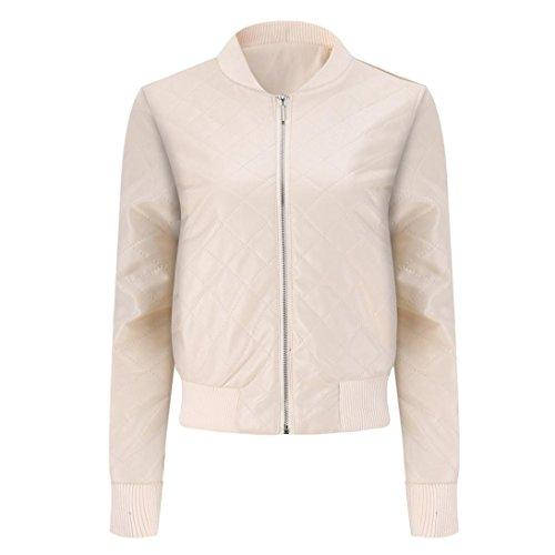 Warm Women Top Winter Overcoat Jacket Slim Beige Winter Leather Blouse huichang Lapel Jacket Fashion Coat F1qxtt
