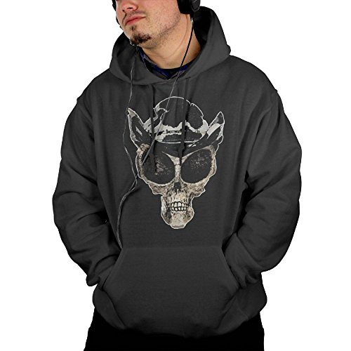 Purple Bfdfd Long Sleeve Pocket Hooded Sweatshirts Mens Alien Skull with Hat