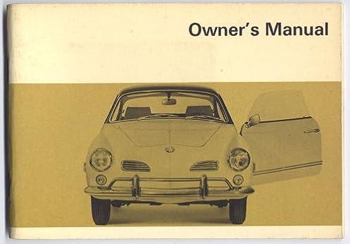 volkswagen karmann ghia owners instruction manual 1968 models coupe rh amazon com vw karmann ghia repair manual vw karmann ghia service manual pdf